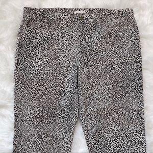 Jones NY Animal Print Stretch High Waist Pants